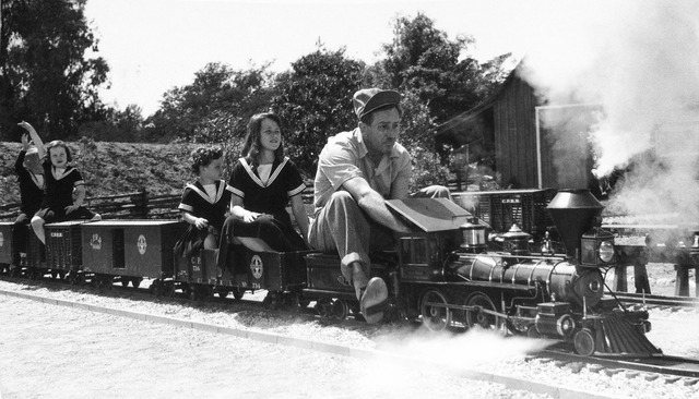 walt disney and his backyard railroad